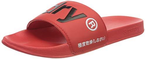 Superdry Bade-Sandalen Herren Classic Pool Slide Apple Red, Größe:XL