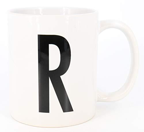 PICSonPAPER Buchstaben-Tasse R Tasse mit Buchstaben, Alphabet als Kaffeetasse Buchstabentasse (Buchstabe R)