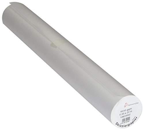 Sketching And Tracing Paper Roll 50 Yard By 12 Inch Wide 304 X 45.72 M White