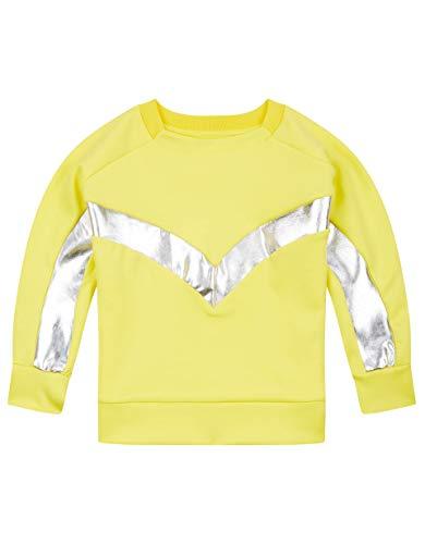 Oilily Gelbes Sweatshirt aus Scuba-Stoff mit Kitesurf-Details YS19GHJ210