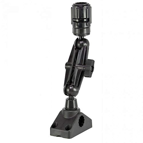 Scotty Mounting System, Gear-Head Adapter, Post and Side/Deck Mount, Black, Ball-Montagesystem, Getriebekopfadapter, Pfosten und Seiten-/Deckhalterung, schwarz, beige, Einheitsgröße