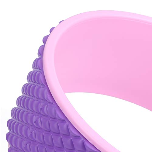 Surebuy Rueda de Yoga Deportiva, Material de EVA ABS Rueda de Yoga Rosa Exterior y Rosa roja para Yoga y Estiramiento hacia atrás