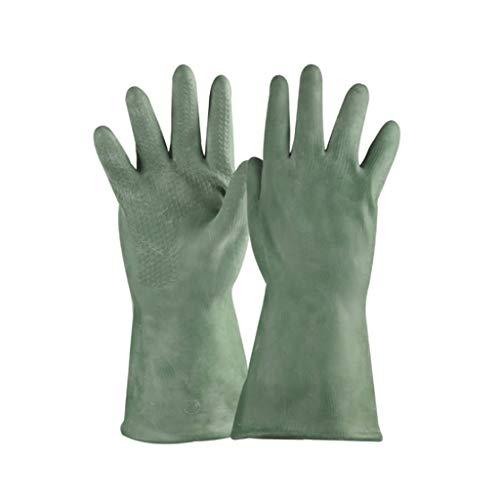 Car cover Anti-Korrosions-Handschuhe Anti-Lösungsmittel und Lösungsmittel-resistente Säure und Alkali beständig Green Butyl Rubber Long...