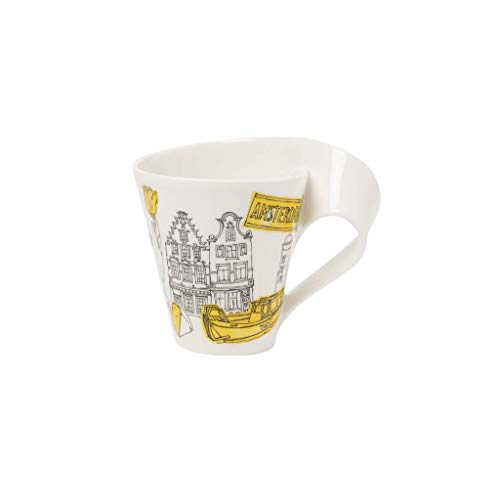Villeroy & Boch Cities of the World Taza de café Ámsterdam, 300 ml, Porcelana Premium, Blanco/Colorido