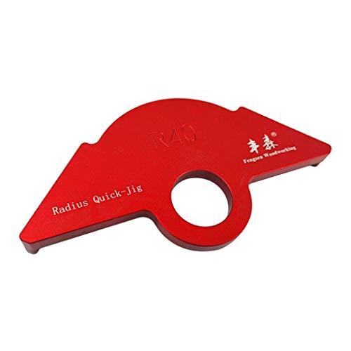 MERIGLARE Plantillas de Enrutamiento de Radio de Esquina de Aleación de Aluminio Herramientas de Carpintería R20 R30 R40 - R40