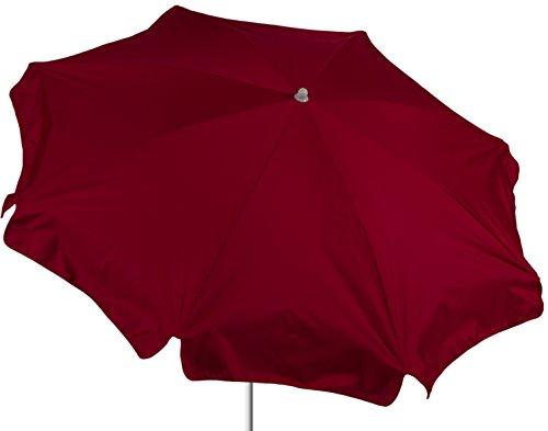 beo ombrelloni Protezione Impermeabile, Rotonda, Diametro 180cm, Colore: Rosso