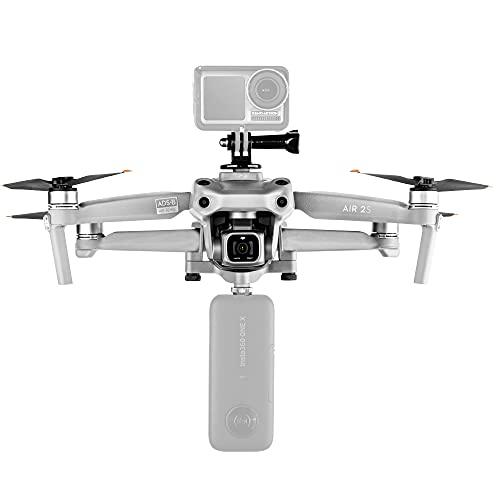 MotuTech Multifunktionale Halterung für Action-Kamera, oben unten für DJI Air 2S / Mavic Air 2 Zubehör-Set