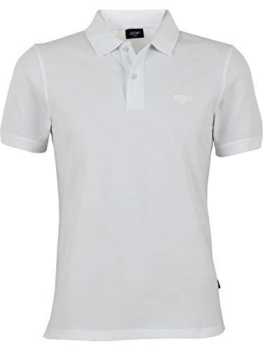 Joop! Herren Kurzarm Poloshirt Regular Fit Beeke Polo Shirt Schwarz Blau Grau Rot Weiss Grün 100% Baumwolle M L XL XXL 3XL, Größe:M, Farbe:Weiß (100)
