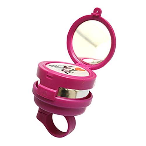 自転車 ベル 自転車の鐘の子供の自転車子供の自転車の鐘を鳴らしている鏡のある車の鐘 自転車のハンドルバーに適しています (色 : Pink, Size : 7X6cm)