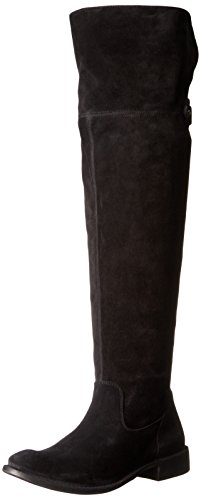 FRYE Damen OTK Shirley, Overknee-Stiefel, Black Extended Calf-78740, 37.5 EU