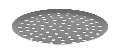 De Buyer 8137.32 ronde geperforeerde pizzaplaat, aluminium anti-aanbaklaag, choc 32 cm