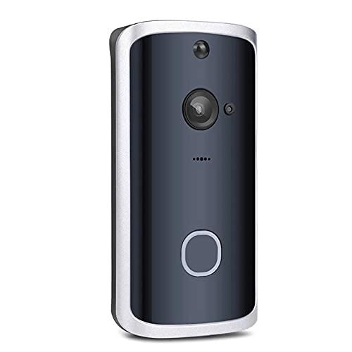 Inicio de video inalámbrico timbre de la puerta, cámara de seguridad de WiFi con el carillón cubierta, 166 ° Gran Angular, 3 baterías, 2 charla bidireccional, visión nocturna, PIR de detección de movi