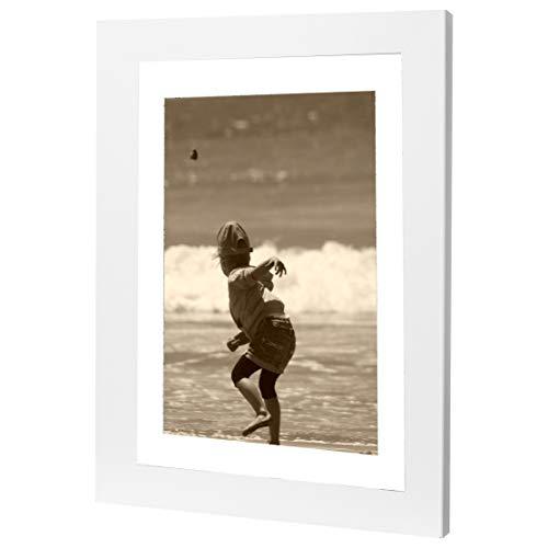 Bilderrahmen Fotorahmen 20x60 cm weiß bilderrahmen zum aufhängen MDF Picture Frames Farbe und 40 Verschiedene Größen wählbar ohne Passepartout Rahmen Ayleen