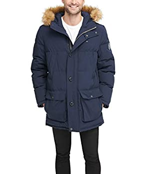 Tommy Hilfiger Men s Arctic Cloth Full Length Quilted Snorkel Jacket  Regular and Big and Tall Sizes  Navy XXL