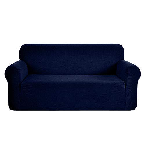 Ramotto Sofabezug Sofahusse, Spandex Stretch Sofahusse Couchbezug Sesselbezug Elastischer Antirutsch Stretchhusse Weich Stoff (Blau, 2-sitzer)