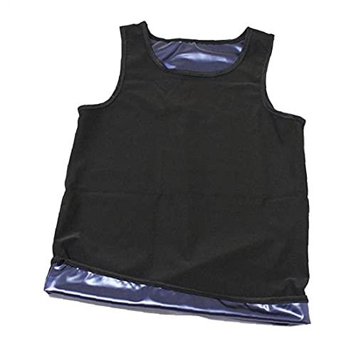 Chaleco De Sauna De Los Hombres, Chaleco Caliente Sauna Sweat Sweat Top para La Perspiración Pérdida De Peso Entrenamiento Control De La Barriga Cuerpo Completo Shaper L/XL