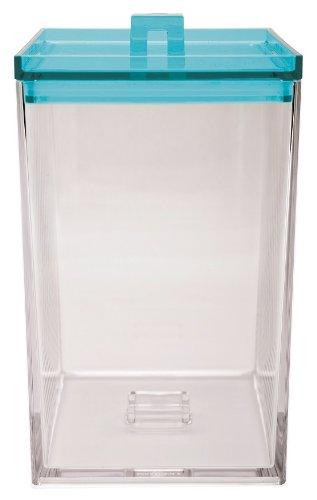 Zak ! Designs Caja APILABLE Transparente/Aqua 2,4 L. 1783-0230