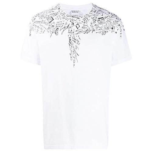 MARCELO BURLON Luxury Fashion Uomo CMAA018E20JER0050110 Bianco Cotone T-Shirt | Autunno-Inverno 19