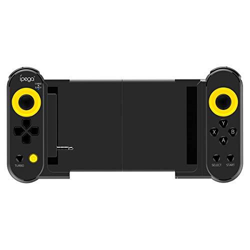 JXH Wireless Gamepad Stretchable Game-Controller, Abnehmbarer Ersatzgriff, ausgestattet mit Audio-Konvertierer-Modul, Plug and Play, Geeignet für Ios Android Handy/PC/Tablet