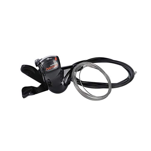 SHIMANO Rapidfire-Schalthebel Nexus SL7S50 für 7 G.-Nabe, mit Zug, 2100mm schwarz (1 Stück)