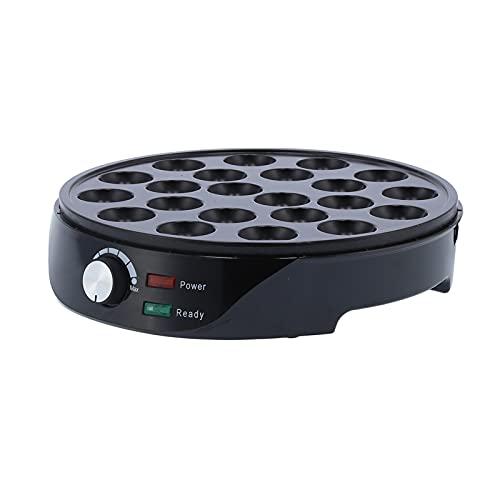 Sartén eléctrica Takoyaki, 22 hoyos 1000W antiadherente Mini máquina de hacer bolas de pulpo portátil, Sartén eléctrica para hornear de fácil operación, Máquina para hacer pasteles de desayuno(EU)