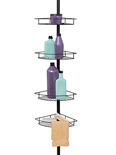Zenna Home, Bronze 2156HB Shower Tension Pole Caddy