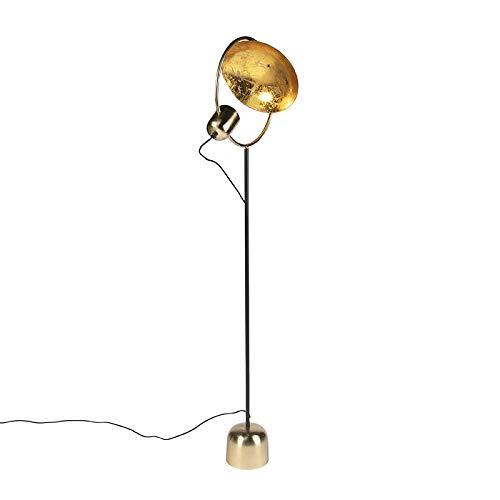 Qazqa Lampadaire | Lampe sur pied Moderne Design - Cosmo Lampe Doré Noir - GU10 - Convient pour LED - 1 x 15 Watt