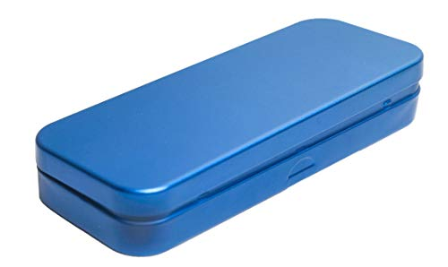 StuffIncase Single Mini Pencil Box, Blue. Use as Pencil, Makeup, Jewelry, Gift, Candy, Favor or Birthday Gift Box
