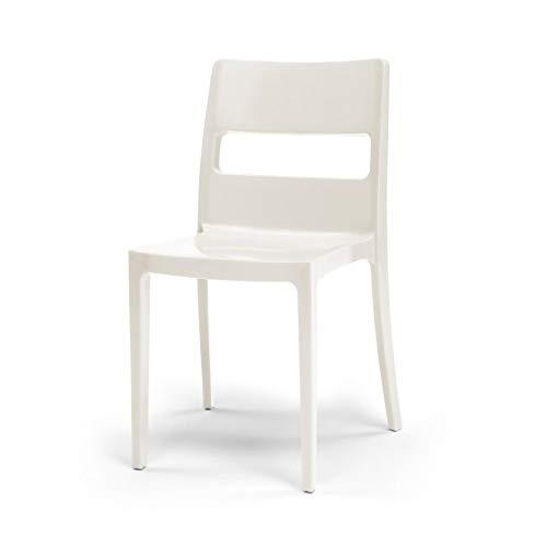 Scab - 6 chaises blanches design - SAI - Lot de 6 - deco