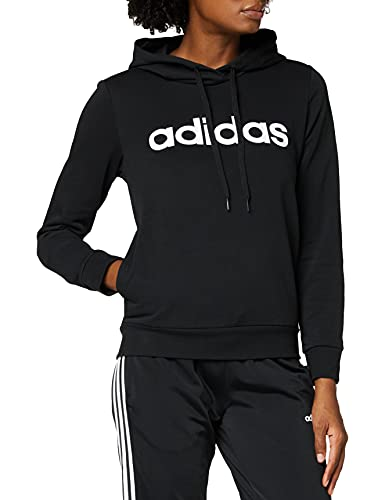 adidas W E Lin OH HD - Sudadera, Mujer, Negro/Blanco, L