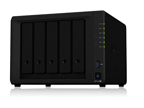 NAS - SATA  Ethernet - Synology Diskstation 5 Baias DS1019+ (Sem discos)