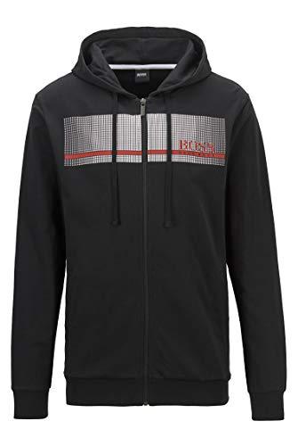 BOSS Authentic Jacket H Sudadera con Capucha, Negro1, M para Hombre