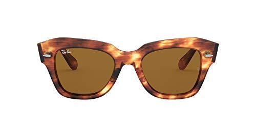Ray-Ban 0RB2186 Gafas, STRIPED HAVANA, 52 Unisex Adulto