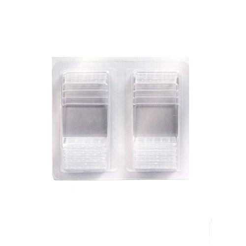 Visiodirect 20 Supports en Acrylique pour Ardoise tag - 4 x 6 cm