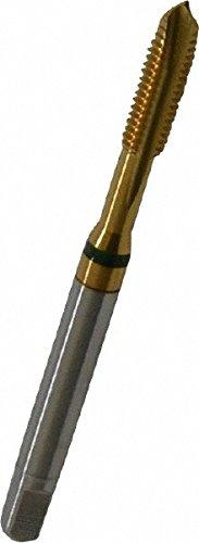 GUHRING 9039170048260 Spiral Flute Tap, Plug, Cobalt, TiN Coating, 3 Flute, 10-32 Size