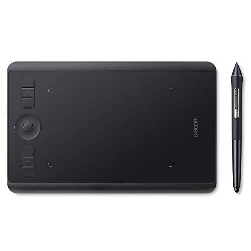 Wacom PTH460K1B Intuos Pro S Grafischer Stift bis zu 8000 Stufen, Größe S, schwarz
