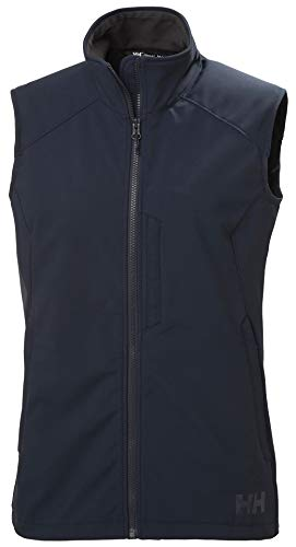 Helly Hansen W Paramount Softshell Vest Gilet Femme, Bleu (Navy), XL