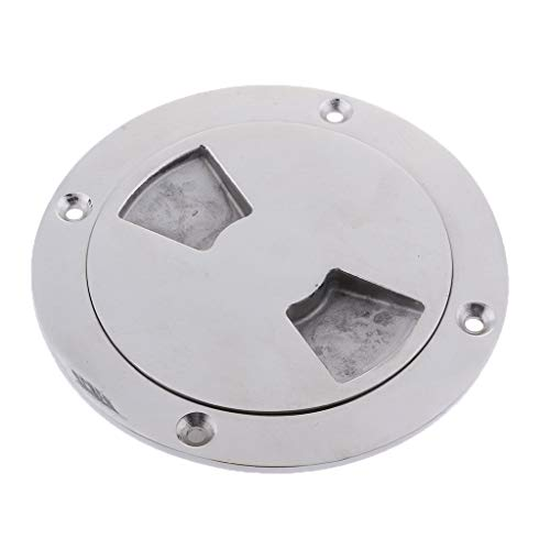 perfk Round Access Cover Weather-Resistant Detachable Inspection Plate Boat Deck Screw Out Hatch Cover Boat Accessories - 140mm