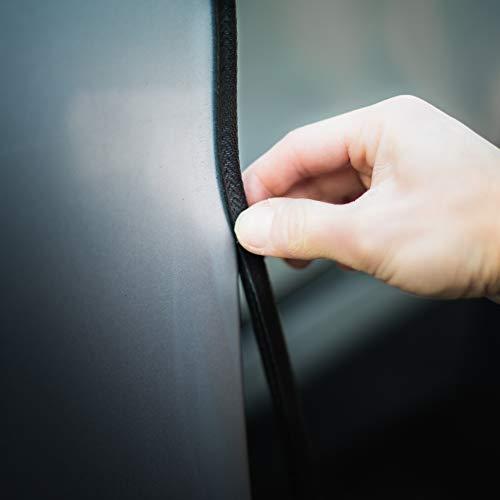 TRIXES 5M U Portière de Voiture Protecteur - Protecteur pour La Porte de Voiture en Caoutchouc - Installation Facile - Bande de Garde - Noir