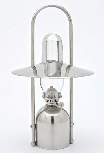 Sampanino Petroleumlampe Edelstahl poliert, mit Reflektor, Tragbügel, Hitzeschutz, Design Fried Ulber/Peter S. Jessen