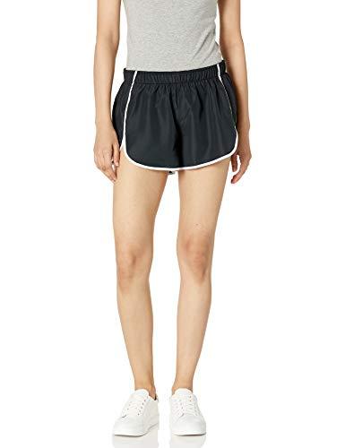 Hanes Sport Women's Performance Run Short,Ebony/True White,Medium
