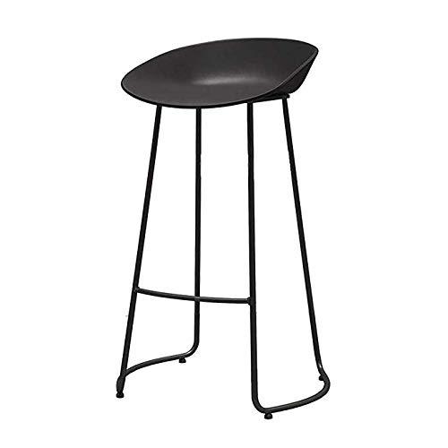 CYHWDHW Barkruk, PP kunststof stoel en smeedijzeren steigers, 2 kleuren, 3 maten 75cm 2