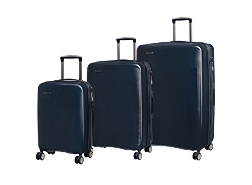 it luggage 3 Piece Set of Signature 8 Wheel Hard Shell Single Expander Suitcases with TSA Lock Suitcase, 79 cm, 294 liters,Navy