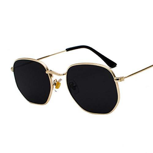 Sunglasses Hexagon Sonnenbrille Frauen Marke Mannen Mann Fahrschirme Männliche Sonnenbrille Für Herren Sonnenbrille Goldgray