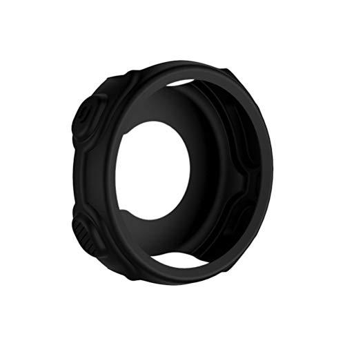 UKCOCO Funda Compatible para Garmin Forerunner 235 - Funda Protectora Carcasas de Silicona Suave Estuche Protector para Reloj Inteligente Funda Protectora a Prueba de Golpes (Negro)