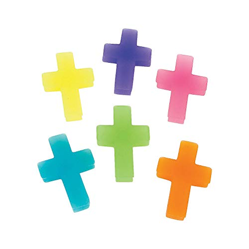 Fun Express - Cross Erasers - Stationery - Pencil Accessories - Erasers - 24 Pieces