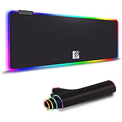 RGB Gaming Mouse Pad, Large Extended Soft Led M...