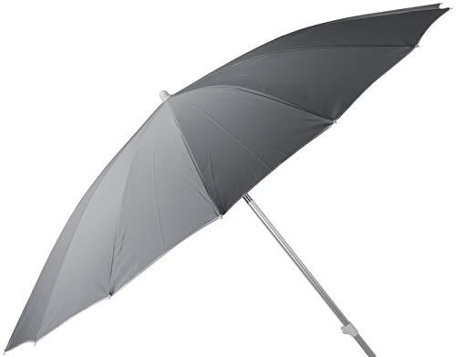 Parasol Sonnenschirm mit Fiberglasstreben u Knickgelenk- sehr stabil XXL 240 cm hellgrau