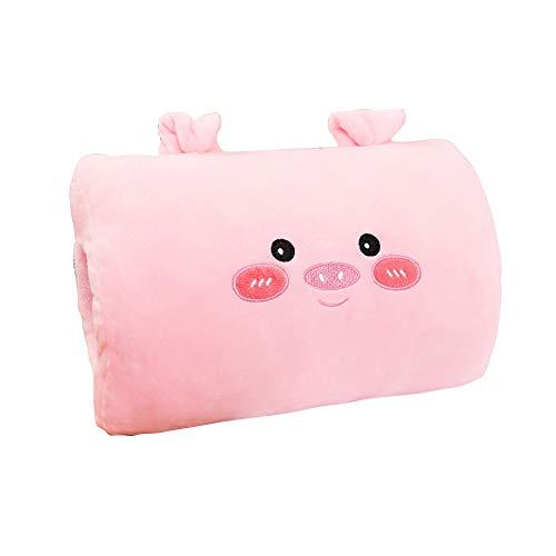 Armiya Plush Stuffed Animal Toys,Soft Cute Cartoon Animals Pillow Pets Toy with Hand Muffs Warmer for Girls Boys (Pink Piggy)