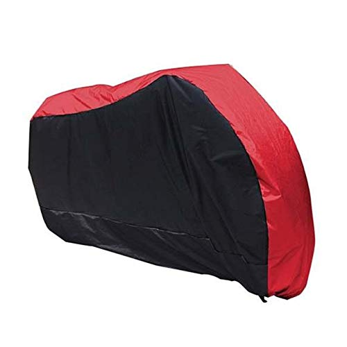 HIOD Motorcycle Cover Waterproof Dustproof All Season Universal Outdoor UV Protective Scooter Bike Motorbike Rain Cover,Red,S
